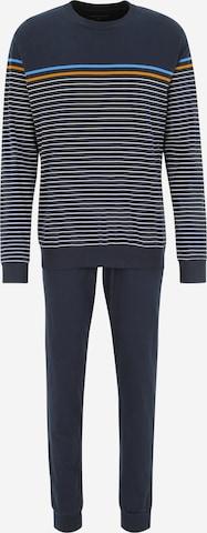 SCHIESSER Dlhé pyžamo - Modrá