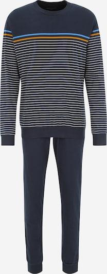SCHIESSER Schlafanzug in hellblau / dunkelblau / orange / weiß, Produktansicht