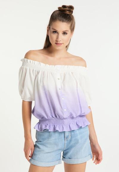 MYMO Bluse in helllila / weiß, Modelansicht