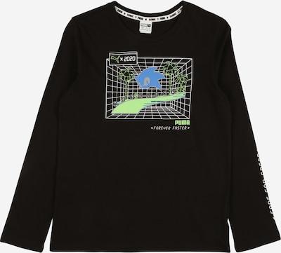 PUMA Tehnička sportska majica u plava / svijetlozelena / crna / bijela, Pregled proizvoda