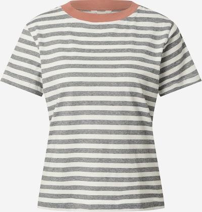 MELAWEAR Тениска 'KHIRA' в сив меланж / сьомга / бяло, Преглед на продукта