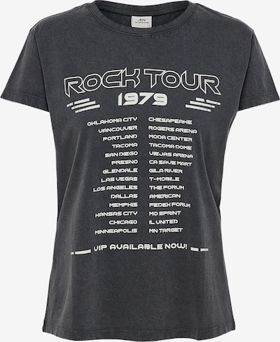JACQUELINE de YONG T-Shirt in dunkelgrau / weiß, Produktansicht