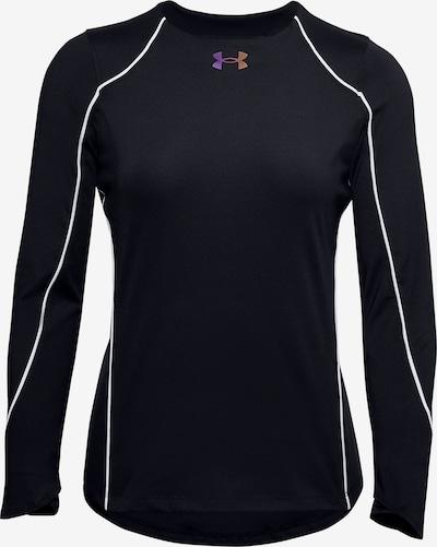 UNDER ARMOUR Functioneel shirt 'Rush' in de kleur Zwart / Wit, Productweergave