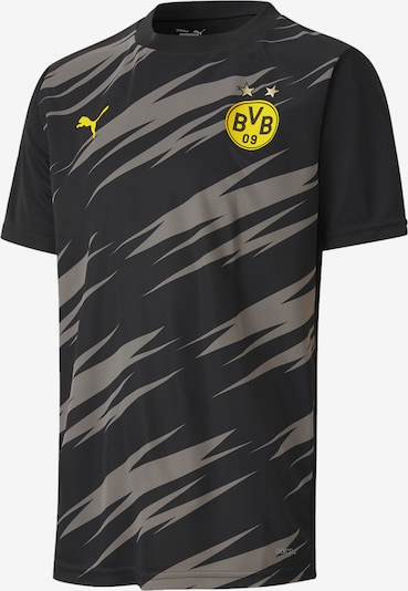 PUMA T-Shirt 'Borussia Dortmund' in gelb / schwarz, Produktansicht