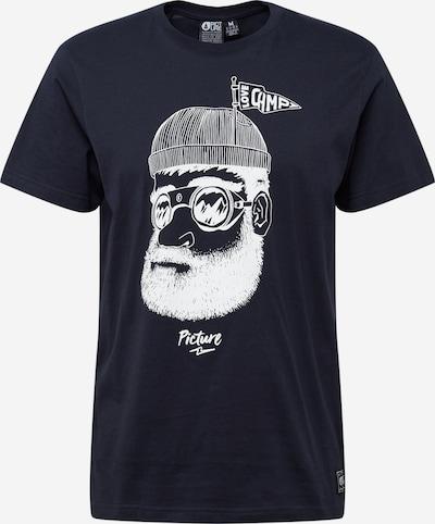 Picture Organic Clothing Funktionsskjorte 'Pinecliff' i mørkeblå / hvid: Frontvisning