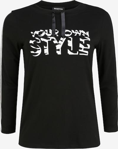 seeyou Shirt 'mit Print' in de kleur Zwart, Productweergave
