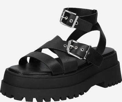 Sandale cu baretă 'FOLLOW' Public Desire pe negru, Vizualizare produs