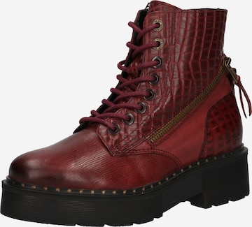 Dockers by Gerli Lace-Up Ankle Boots in Red