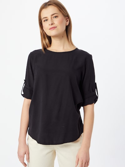 Liebesglück Blouse in de kleur Zwart, Modelweergave