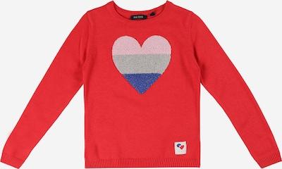 BLUE SEVEN Pullover in himmelblau / grau / hellpink / rot, Produktansicht