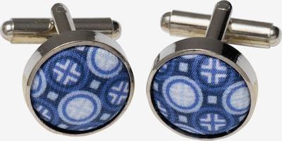 ETERNA Manchetknopen in de kleur Blauw / Zilver / Wit, Productweergave