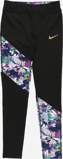 NIKE Pantalon de sport 'One' en bleu marine / violet clair / mélange de couleurs / noir / blanc, Vue avec produit