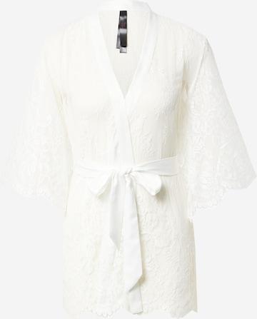 Hunkemöller Morgenmantel 'Isabella' in Weiß