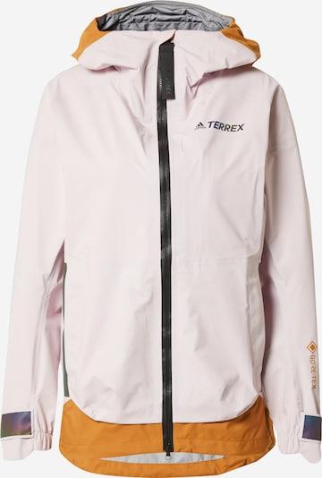 adidas Terrex Jacke in ocker / altrosa / schwarz, Produktansicht