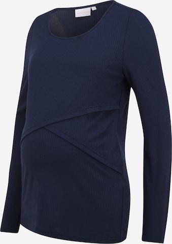 Mamalicious Curve Skjorte 'CARMA JUNE' i blå