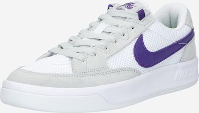 Sneaker low 'Adversary' Nike SB pe gri / mov închis / alb, Vizualizare produs