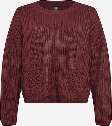 Urban Classics Curvy Sweater in Red