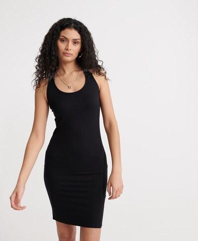Superdry Bodyconkleid in schwarz / weiß, Modelansicht
