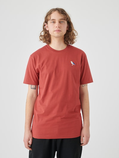 Cleptomanicx Basic Tee Embro Gull in rot: Frontalansicht