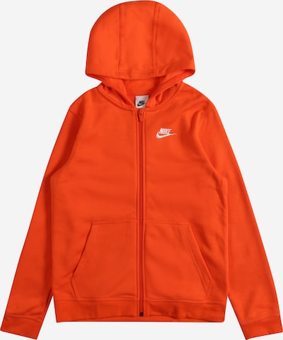 Nike Sportswear Veste de survêtement en orange / blanc, Vue avec produit