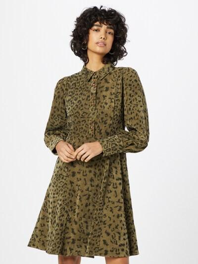 NÜMPH Kleid 'CHELSEA' in oliv / dunkelgrün, Modelansicht