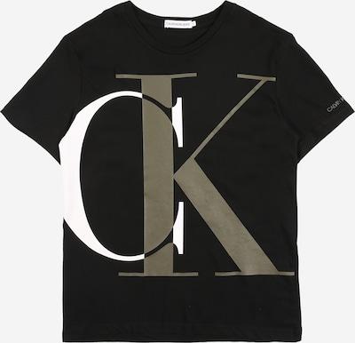 Calvin Klein Jeans T-Shirt en kaki / noir / blanc, Vue avec produit