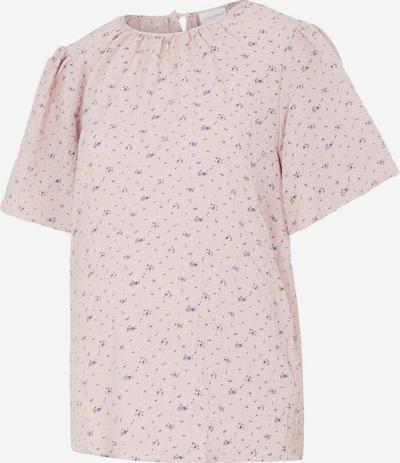 MAMALICIOUS Shirt 'KARO' in blau / hellpink, Produktansicht