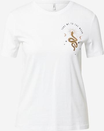 ONLY Póló 'KITA' - fehér