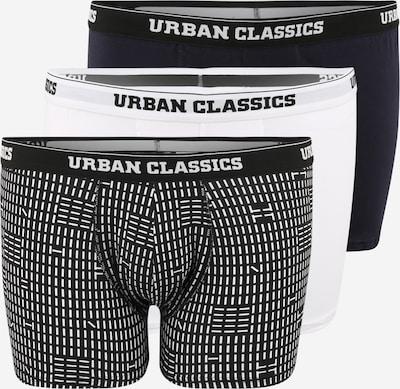 Urban Classics Plus Size Boxers en bleu nuit / noir / blanc, Vue avec produit