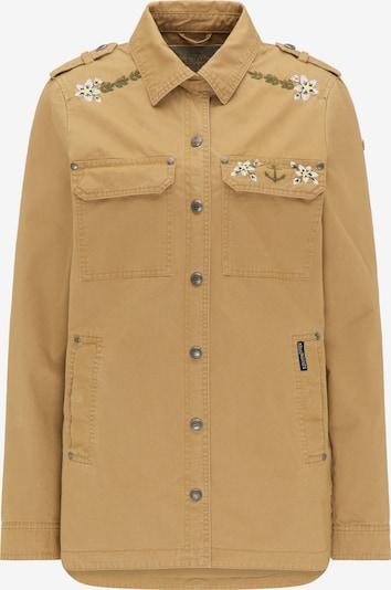 DreiMaster Vintage Jacke in sand / grün / weiß, Produktansicht