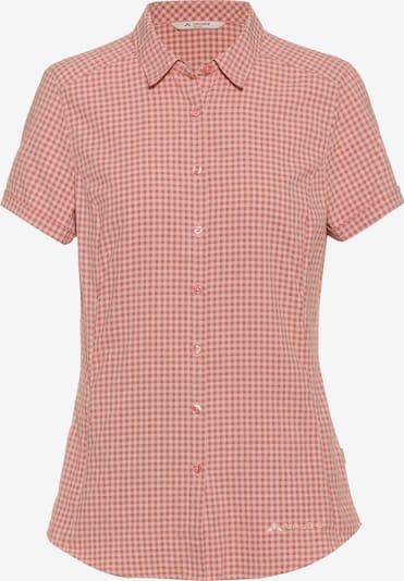 VAUDE Bluse 'Seiland III' in rosa / weiß, Produktansicht
