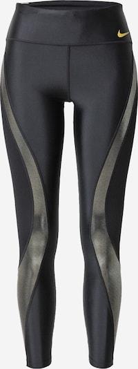 NIKE Pantalon de sport en jaune / gris argenté / noir, Vue avec produit