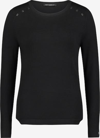Betty Barclay Feinstrickpullover mit Knöpfen in schwarz, Produktansicht