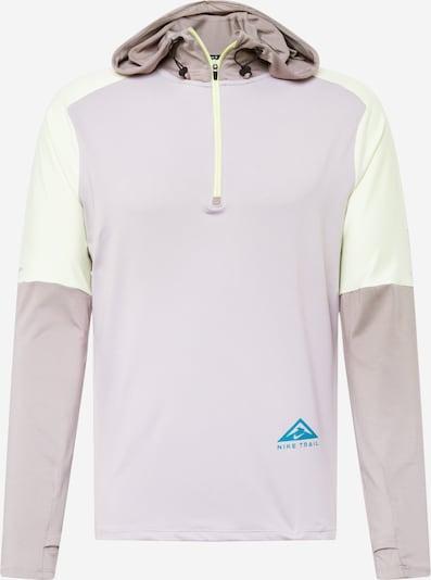 NIKE Αθλητική μπλούζα φούτερ σε τιρκουάζ / ανοικτό κίτρινο / τέφρα, Άποψη προϊόντος
