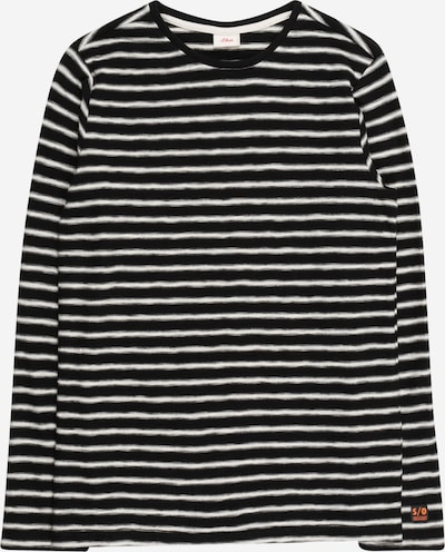 s.Oliver T-shirt i svart / vit, Produktvy