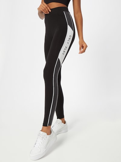 ONLY PLAY Workout Pants in Black / White, View model