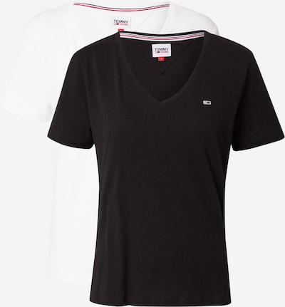 Tommy Jeans T-shirt i svart / vit, Produktvy