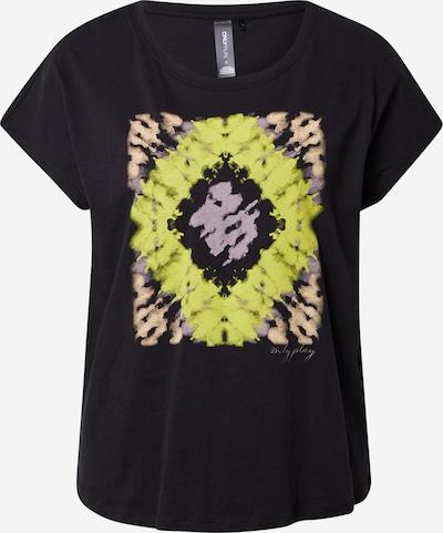 ONLY PLAY Functioneel shirt 'ONPMIMA' in de kleur Beige / Geel / Lila / Zwart, Productweergave