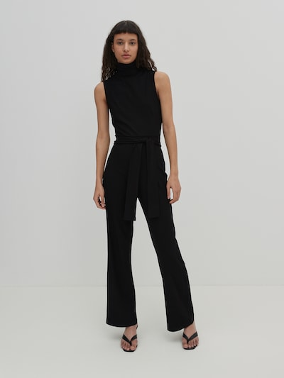 EDITED Jumpsuit 'Devyn' i sort, Modelvisning