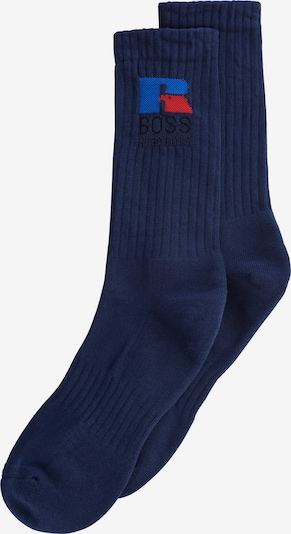 BOSS Casual Ponožky 'QS  Russell Athletic' - královská modrá / tmavě modrá / ohnivá červená / černá, Produkt