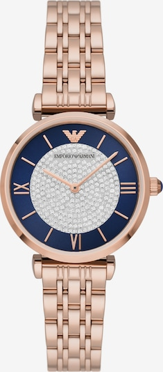 Emporio Armani Analog Watch in marine blue / Gold / Silver, Item view