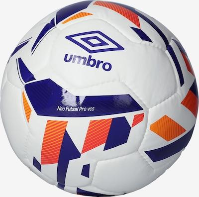 UMBRO Ball in blau / orange / weiß: Frontalansicht