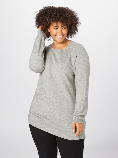 ONLY Carmakoma Pullover 'Esly' in grau: Frontalansicht