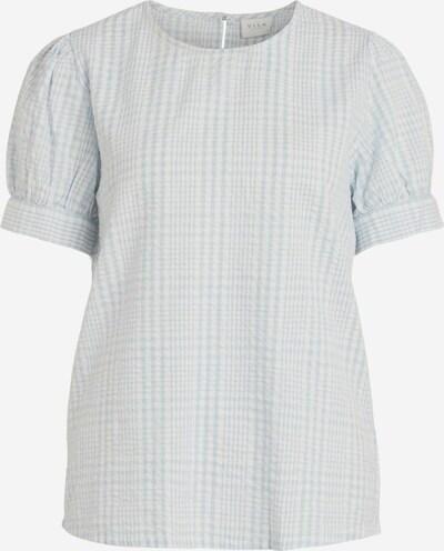 VILA Bluse in pastellblau / weiß, Produktansicht