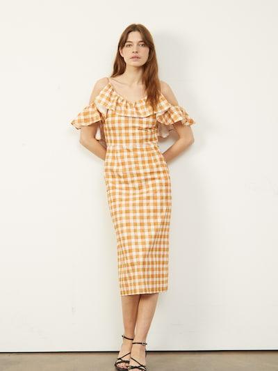 sárga / aranysárga / fehér Aligne Nyári ruhák 'Curdah', Modell nézet