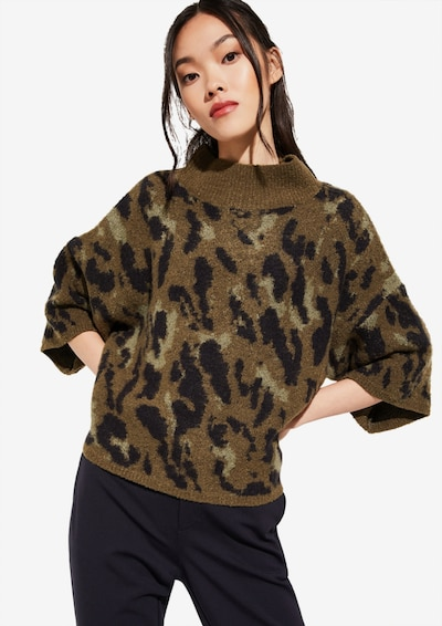 COMMA Pullover in khaki, Modelansicht