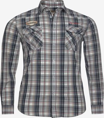 Man's World Hemd in navy / braun / rot / weiß, Produktansicht