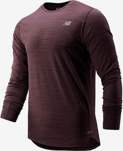 new balance Shirt 'Seasonless Ls Tee' in bordeaux, Produktansicht