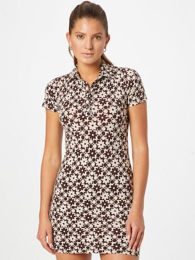 Motel Kleid in cappuccino / dunkelbraun, Modelansicht