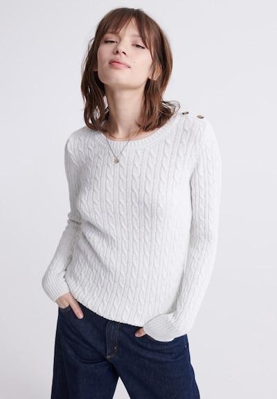 Superdry Pullover 'Croyde' in weiß, Modelansicht